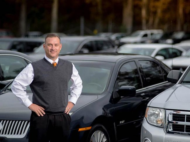 Environmental Photography of CEO of Carolina Auto Auctions